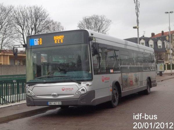 transport TRA,ligne 616b,bus HeuliezBus GX 327 à AulnaySousBois